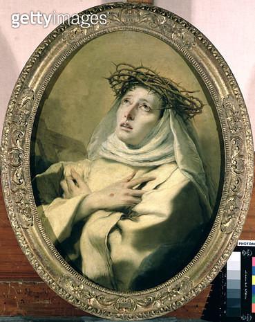 <b>Title</b> : St. Catherine of Siena (1347-80), c.1746<br><b>Medium</b> : oil on canvas<br><b>Location</b> : Kunsthistorisches Museum, Vienna, Austria<br> - gettyimageskorea