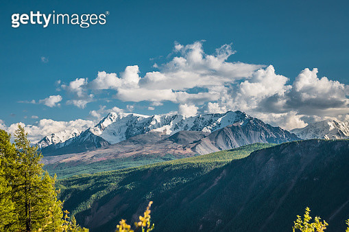 Scenic View Of Snowcapped Mountains Against Sky - gettyimageskorea