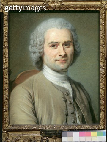 <b>Title</b> : Portrait of Jean Jacques Rousseau (1712-78) (pastel on paper)<br><b>Medium</b> : pastel on paper<br><b>Location</b> : Musee Antoine Lecuyer, Saint-Quentin, France<br> - gettyimageskorea