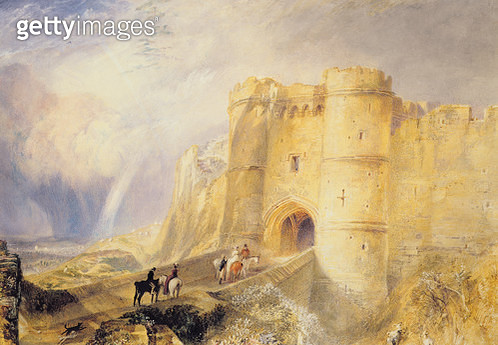<b>Title</b> : Carisbrook Castle, Isle of Wight (w/c on paper)<br><b>Medium</b> : watercolour on paper<br><b>Location</b> : Carisbrooke Castle Museum, Isle of Wight, England<br> - gettyimageskorea
