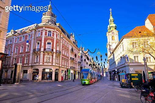 City Of Graz Hauptplatz Main Square Advent View - gettyimageskorea