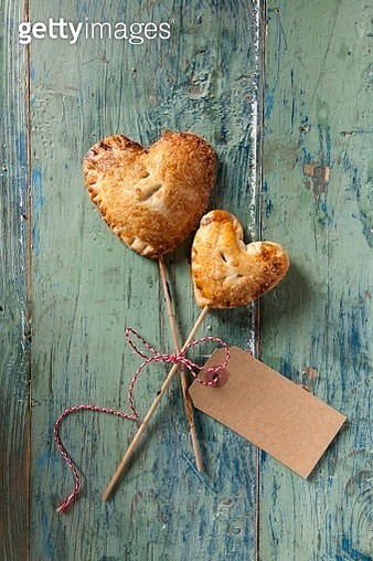 Cherry Pie Pops (small cherry pies on the stick) to give away - gettyimageskorea