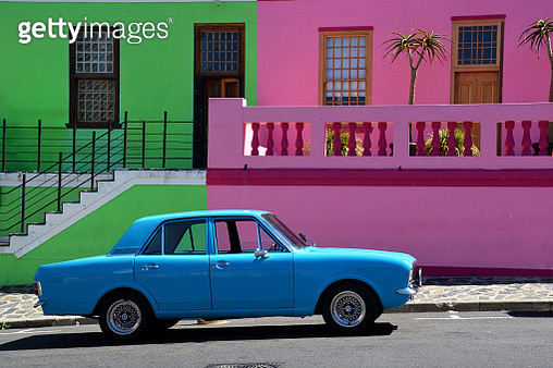 The blue car Capetown - gettyimageskorea