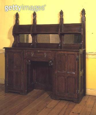 Serving table and sideboard/ from The Grange/ Ramsgate/ c.1847 (oak wood) - gettyimageskorea