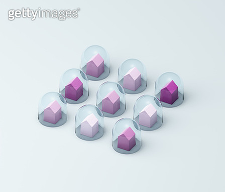 Houses under glass domes - gettyimageskorea