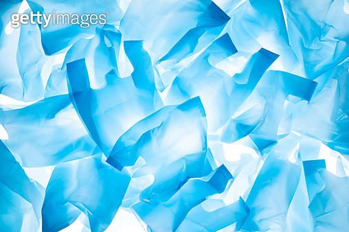 Blue Plastic Bags - gettyimageskorea