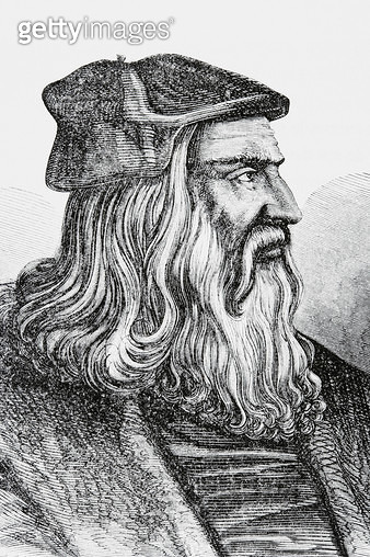 <b>Title</b> : Leonardo Da Vinci (litho)Additional Infoda Vinci (1452-1519;<br><b>Medium</b> : <br><b>Location</b> : Private Collection<br> - gettyimageskorea