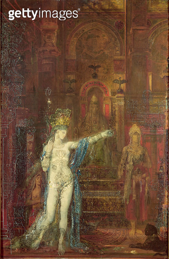 <b>Title</b> : Salome Dancing Before Herod, c.1874 (oil on canvas)<br><b>Medium</b> : oil on canvas<br><b>Location</b> : Musee Gustave Moreau, Paris, France<br> - gettyimageskorea