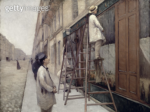 <b>Title</b> : The Painters, 1877 (oil on canvas)<br><b>Medium</b> : oil on canvas<br><b>Location</b> : Private Collection<br> - gettyimageskorea