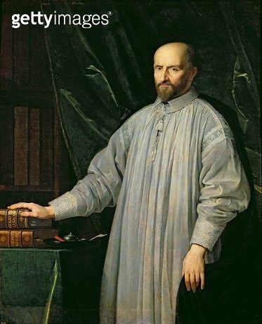<b>Title</b> : Jean Duvergier de Hauranne (1581-1643) Abbot of Saint-Cyran, c.1646-48 (oil on canvas)<br><b>Medium</b> : oil on canvas<br><b>Location</b> : Chateau de Versailles, France<br> - gettyimageskorea