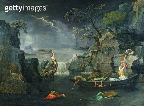 <b>Title</b> : Winter, or The Flood, 1660-64 (oil on canvas)<br><b>Medium</b> : oil on canvas<br><b>Location</b> : Louvre, Paris, France<br> - gettyimageskorea