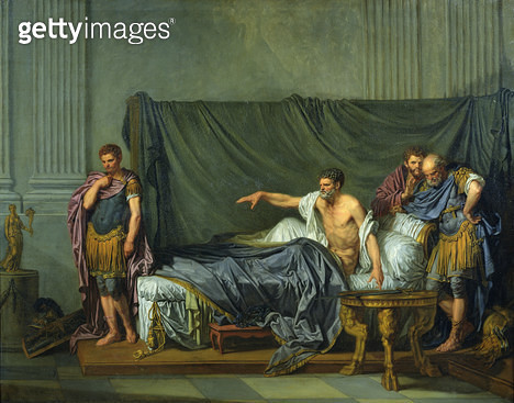 <b>Title</b> : The Emperor Severus Rebuking his Son, Caracalla, for Wanting to Assassinate Him, 1769 (oil on canvas)Additional Infol'Empereur S<br><b>Medium</b> : oil on canvas<br><b>Location</b> : Louvre, Paris, France<br> - gettyimageskorea