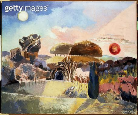 <b>Title</b> : Landscape of the Vernal Equinox (III), 1944<br><b>Medium</b> : oil on canvas<br><b>Location</b> : Scottish National Gallery of Modern Art, Edinburgh, UK<br> - gettyimageskorea