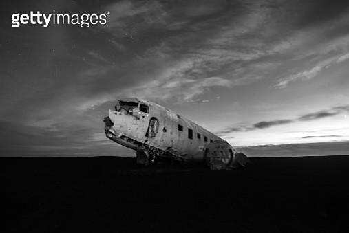 Plane Wreckage, Iceland - gettyimageskorea