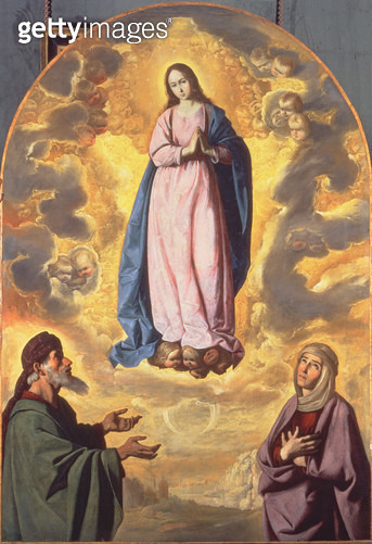 <b>Title</b> : The Immaculate Conception with Saint Joachim and Saint Anne, c.1638-40<br><b>Medium</b> : oil on canvas<br><b>Location</b> : National Gallery of Scotland, Edinburgh, Scotland<br> - gettyimageskorea