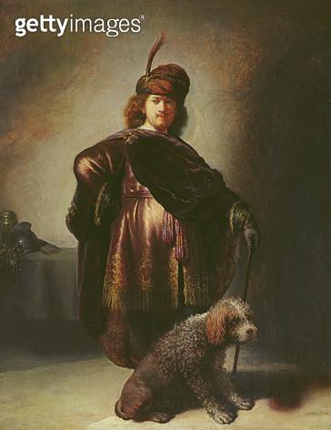 <b>Title</b> : Self Portrait in Oriental Costume, 1631 (oil on panel)<br><b>Medium</b> : oil on panel<br><b>Location</b> : Musee de la Ville de Paris, Musee du Petit-Palais, France<br> - gettyimageskorea