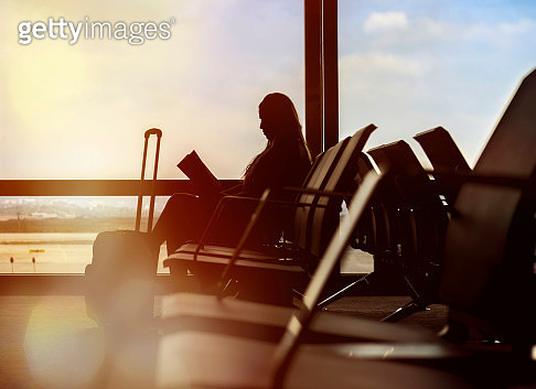 waiting for my flight - gettyimageskorea