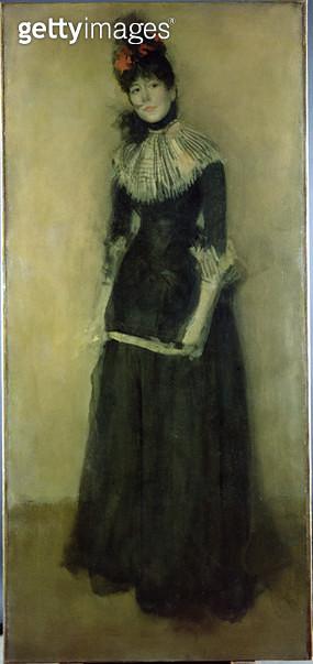 <b>Title</b> : Rose et Argent: La Jolie Mutine, c.1890 (oil on canvas)Additional InfoPink and Silver: The Pretty Scamp; one of three of Ethel h<br><b>Medium</b> : <br><b>Location</b> : Hunterian Art Gallery, University of Glasgow, Scotland<br> - gettyimageskorea