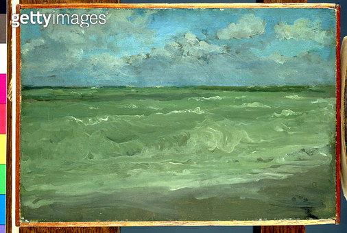 <b>Title</b> : Green and Silver: The Great Sea (oil on panel)<br><b>Medium</b> : <br><b>Location</b> : Hunterian Art Gallery, University of Glasgow, Scotland<br> - gettyimageskorea