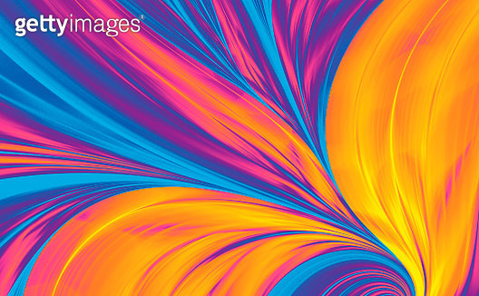 Bright Abstract Fractal Background like Peacock Feather - gettyimageskorea