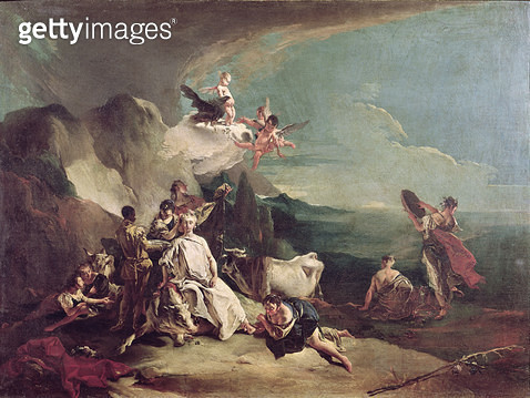 <b>Title</b> : The Rape of Europa, 1720-21 (oil on canvas)<br><b>Medium</b> : oil on canvas<br><b>Location</b> : Galleria dell' Accademia, Venice, Italy<br> - gettyimageskorea