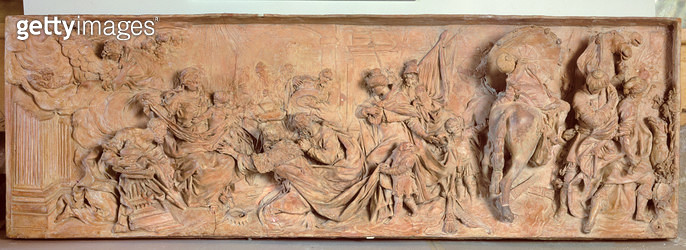<b>Title</b> : Adoration of the Magi, relief by Giovanni Maria Morlaiter (1700-81), 1730 (terracotta)<br><b>Medium</b> : terracotta<br><b>Location</b> : Ca' Rezzonico, Museo del Settecento, Venice<br> - gettyimageskorea