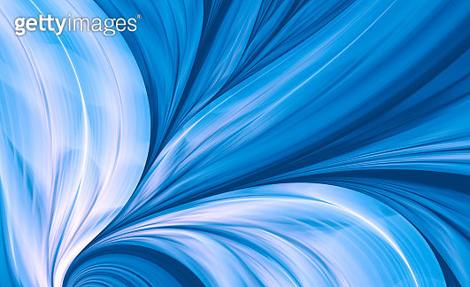 Blue Abstract Fractal Background like Peacock Feather - gettyimageskorea