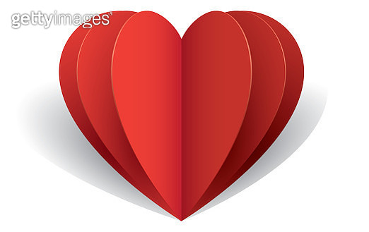 Folding hearts - gettyimageskorea