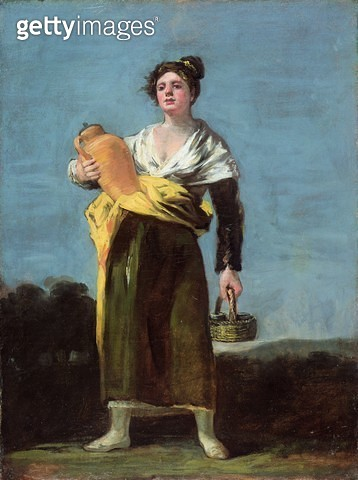 <b>Title</b> : The Water Carrier, c.1812 (oil on canvas)<br><b>Medium</b> : oil on canvas<br><b>Location</b> : Private Collection<br> - gettyimageskorea