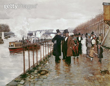 <b>Title</b> : The Wedding Departure, 1878 (oil on canvas)<br><b>Medium</b> : oil on canvas<br><b>Location</b> : Private Collection<br> - gettyimageskorea