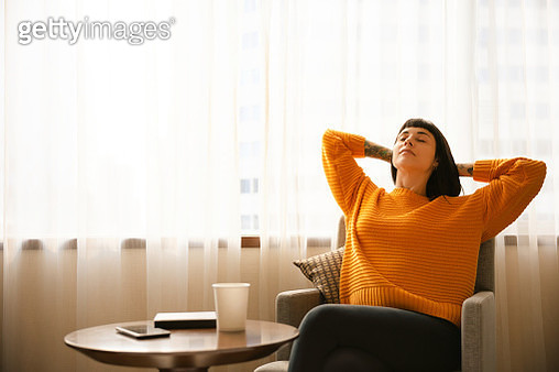 Young woman take a break and relaxing - gettyimageskorea