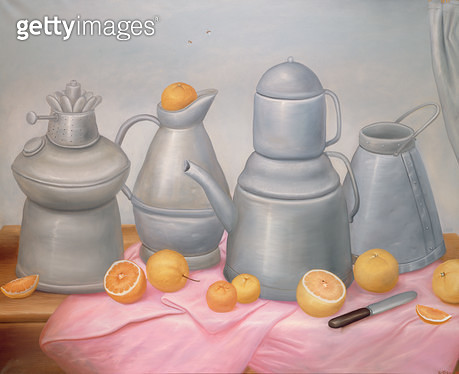<b>Title</b> : Still Life with Pewter, 1974<br><b>Medium</b> : oil on canvas<br><b>Location</b> : Galerie Daniel Malingue, Paris, France<br> - gettyimageskorea