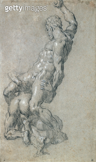 <b>Title</b> : Samson Killing the Philistines (charcoal on paper)<br><b>Medium</b> : charcoal on paper<br><b>Location</b> : Musee Bonnat, Bayonne, France<br> - gettyimageskorea