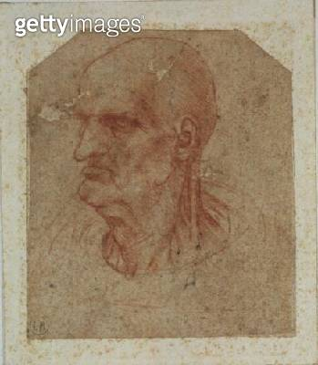<b>Title</b> : Head of a beardless old man, left profile (red chalk on paper)Additional InfoTete de Vieillard Imberbe, Tourne vers la Gauche;<br><b>Medium</b> : red chalk on paper<br><b>Location</b> : Musee Bonnat, Bayonne, France<br> - gettyimageskorea