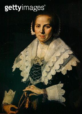 <b>Title</b> : Portrait of a Woman with a Fan, 1640 (oil on canvas)<br><b>Medium</b> : oil on canvas<br><b>Location</b> : National Gallery, London, UK<br> - gettyimageskorea