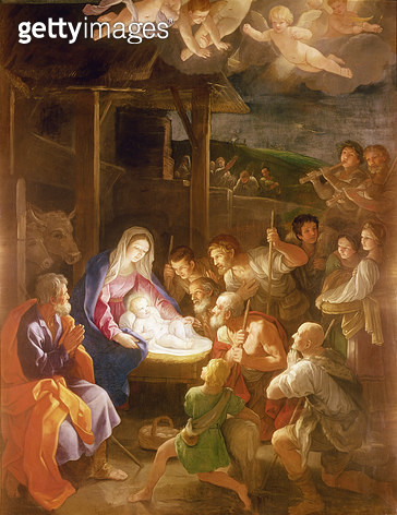 <b>Title</b> : The Nativity at Night, 1640 (oil on canvas)<br><b>Medium</b> : oil on canvas<br><b>Location</b> : National Gallery, London, UK<br> - gettyimageskorea