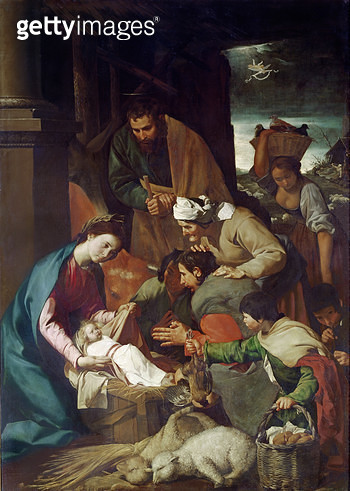 <b>Title</b> : Adoration of the Shepherds, 1630 (oil on canvas)<br><b>Medium</b> : <br><b>Location</b> : National Gallery, London, UK<br> - gettyimageskorea