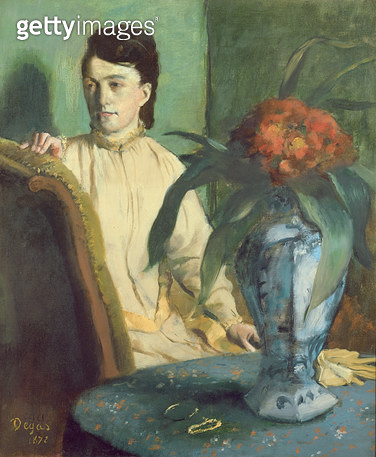 <b>Title</b> : Woman with the Oriental Vase, 1872 (oil on canvas)Additional InfoLa Femme a la Potiche;<br><b>Medium</b> : oil on canvas<br><b>Location</b> : Musee d'Orsay, Paris, France<br> - gettyimageskorea