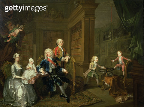 <b>Title</b> : The Cholmondeley Family, 1732<br><b>Medium</b> : <br><b>Location</b> : Private Collection<br> - gettyimageskorea