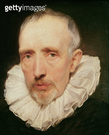 <b>Title</b> : Portrait of Cornelis van der Geest, c.1620 (oil on oak)Additional InfoCornelis van der Geest (1555-1638); Antwerp spice merchant<br><b>Medium</b> : oil on oak<br><b>Location</b> : National Gallery, London, UK<br> - gettyimageskorea
