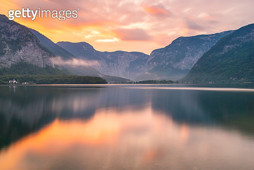 Hallstatt is a small town in the district of Gmunden, Austria. Situated between the southwestern shore of Hallstätter See and the steep slopes of the Dachstein massif, the town lies in Salzkammergut region. Hallstatt-Dachstein/ Salzkammergut Cultural Land - gettyimageskorea