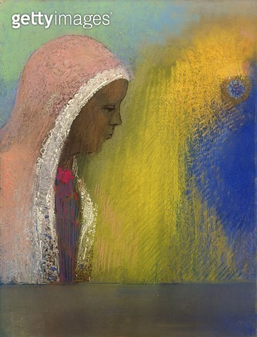<b>Title</b> : Portrait of a Woman in a Pink Veil, 1885 (pastel on paper)Additional InfoPortrait de femme au voile rose;<br><b>Medium</b> : pastel on paper<br><b>Location</b> : Private Collection<br> - gettyimageskorea