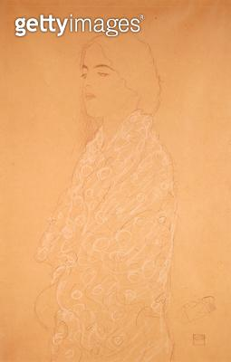 <b>Title</b> : Woman with a White Shawl (pencil with white & red coloured chalk on paper)<br><b>Medium</b> : pencil with white and red coloured chalk on paper<br><b>Location</b> : Private Collection<br> - gettyimageskorea