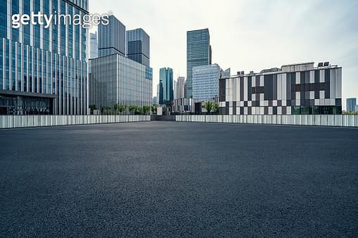 Financial district, Parking Lot - gettyimageskorea