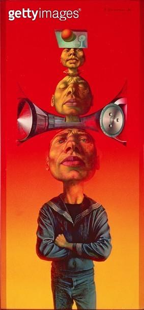 <b>Title</b> : Three Heads, from the Adam Series, 1964<br><b>Medium</b> : <br><b>Location</b> : Wien Museum Karlsplatz, Vienna, Austria<br> - gettyimageskorea