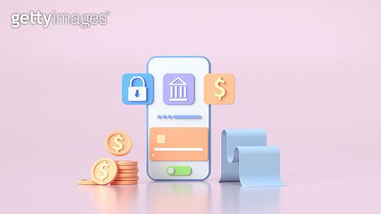 金幣,錢包,信用卡,手機和美元插畫 - gettyimageskorea