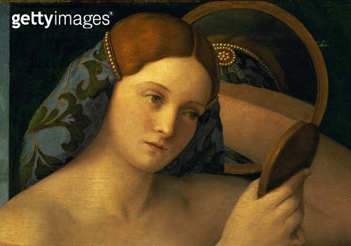 <b>Title</b> : Young Woman at her Toilet, detail of the face, 1515 (oil on panel)<br><b>Medium</b> : oil on panel<br><b>Location</b> : Kunsthistorisches Museum, Vienna, Austria<br> - gettyimageskorea