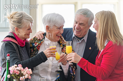 Beautiful senior woman celebrating mother's day - gettyimageskorea