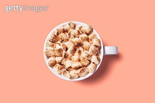 Roasted Marshmallows on Hot Chocolate - gettyimageskorea