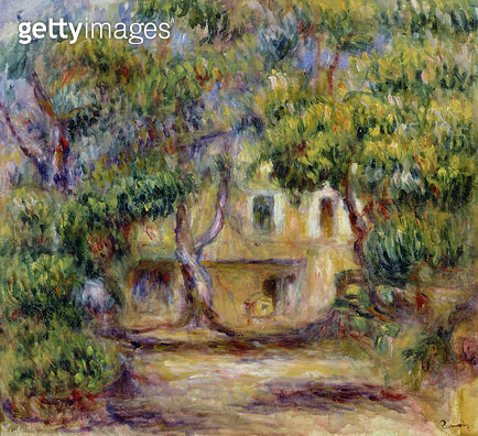 <b>Title</b> : The Farm at Les Collettes, c.1915<br><b>Medium</b> : oil on canvas<br><b>Location</b> : Musee Renoir, Les Collettes, Cagnes-sur-Mer, France<br> - gettyimageskorea